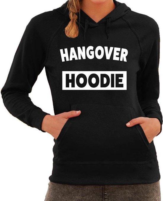 Hangover hoodie fun hooded sweater voor dames zwart XL (42)