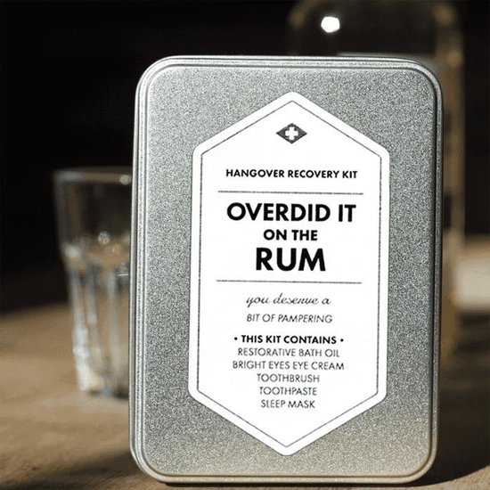 Men's Society Hangover Recovery Kit - Overdid It On The Rum