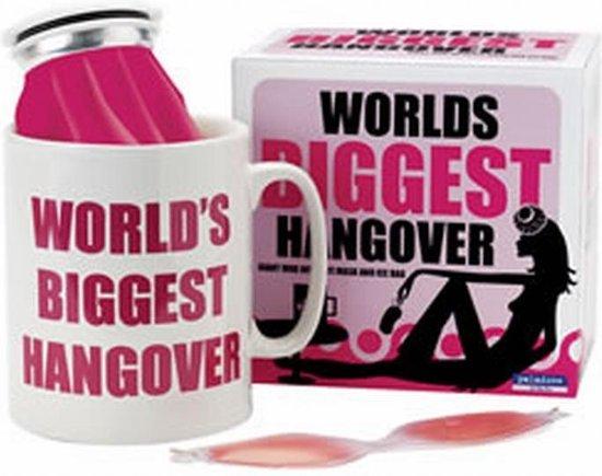 World's BIGGEST hangover, gigantische mok met ijzak
